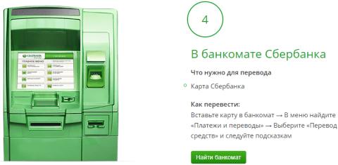 Платеж на карту по номеру телефона в банкомате