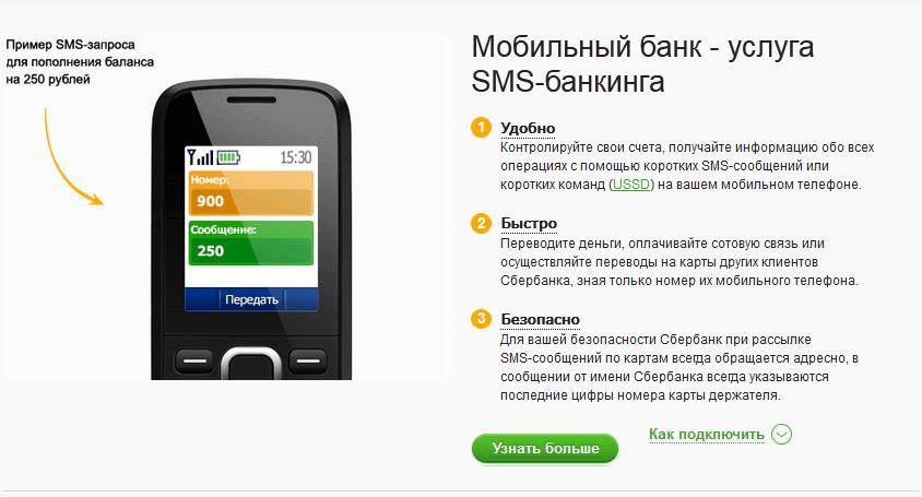 Отправка команды с телефона для проверки счёта