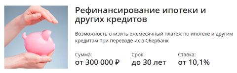 Документы в Сбербанке при рефинансировании ипотеки